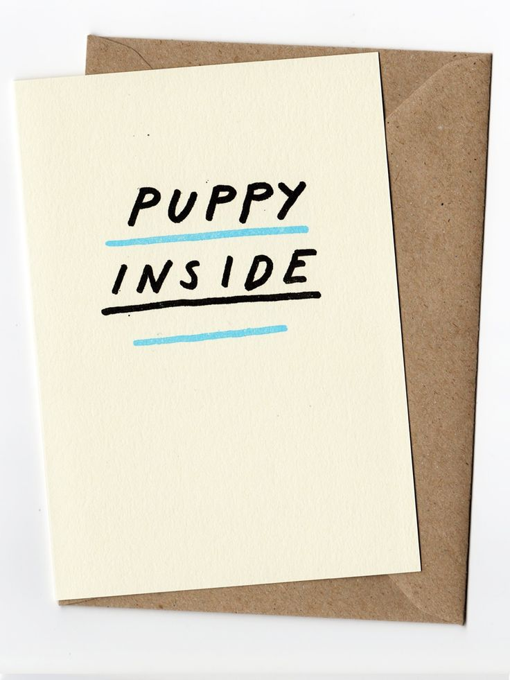 puppy inside card by Same Indifference on Young Republic - http://www.youngrepublic.com/home-life/office-stationery/puppyinsidecard.html