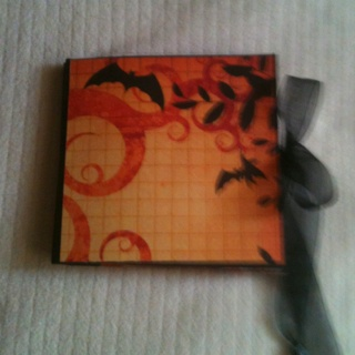 Halloween star book - closed.