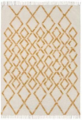 Debenhams Yellow woollen 'Diamond Kelim' rug   Debenhams