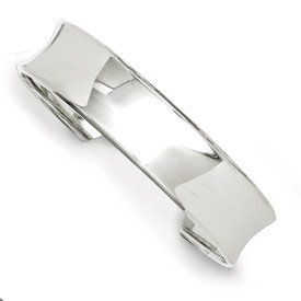 Genuine IceCarats Designer Jewelry Gift Sterling Silver Cuff Bangle IceCarats. $79.00. 30 day money back guarantee. Polished Sterling silver Cuff Flexible. Genuine IceCarats Designer Jewelry Gift. Weight 16.79 grams. Sterling Silver