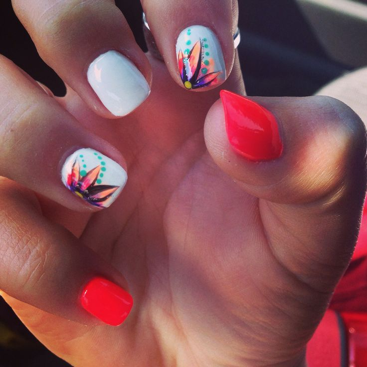 20 Amazing Nail Art Designs Inspired By Games We Play: Best 25+ Red Summer Nails Ideas On Pinterest