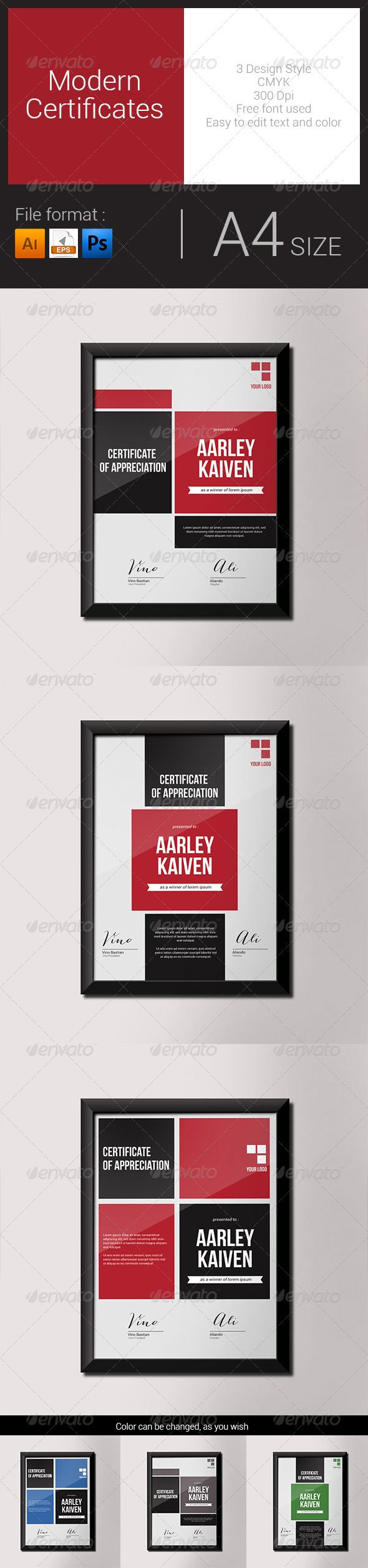 Modern Certificates #graphicriver
