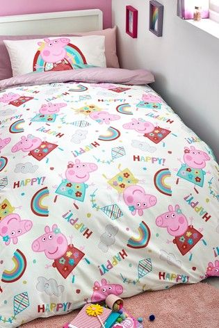Peppa Pig Duvet Cover And Pillowcase Set Home Improvements In