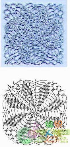 Granny Square filigran Lace Häkeln / crochet flower in a square crochet motif