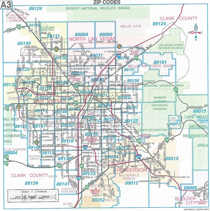 Las Vegas Nevada Mapa