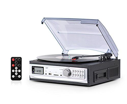 Record Player with Speakers and Cassette Player - Record ...…