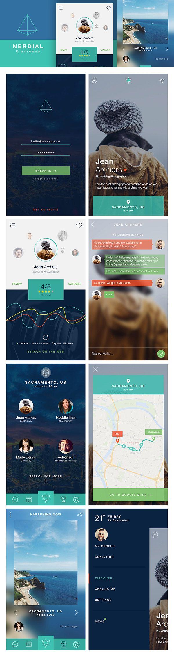 Nerdial App UI - Antara's Diary