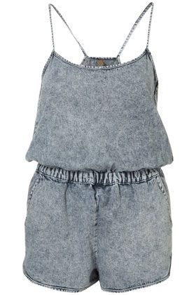 I need to buy this Moto Acid Wash Denim Playsuit before I got back to Cape Breton for the Summer.