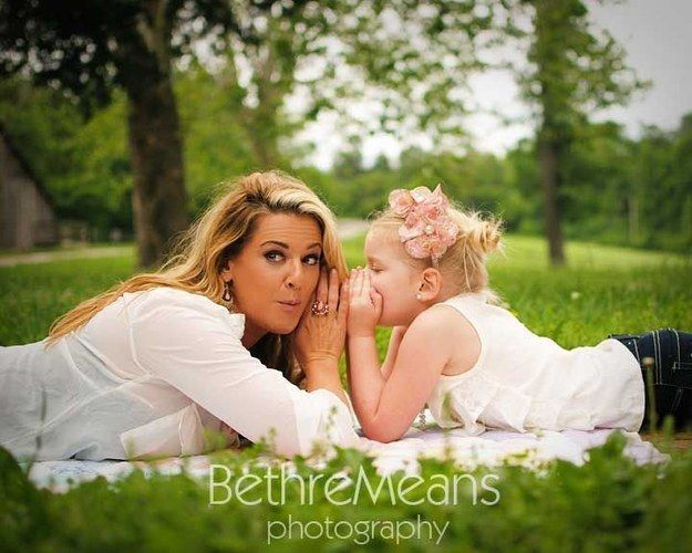 Whisper secrets just for the two of you. | 31 Impossibly Sweet Mother-Daughter Photo Ideas
