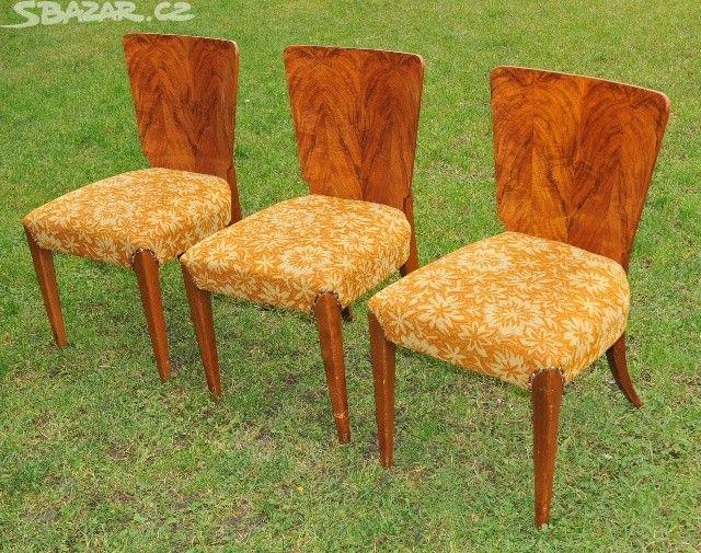 Židle J Halabala UP závody. 3 ks - obrázek číslo 2