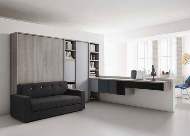 17 best images about salones con camas abatibles on - Cama mueble abatible ...