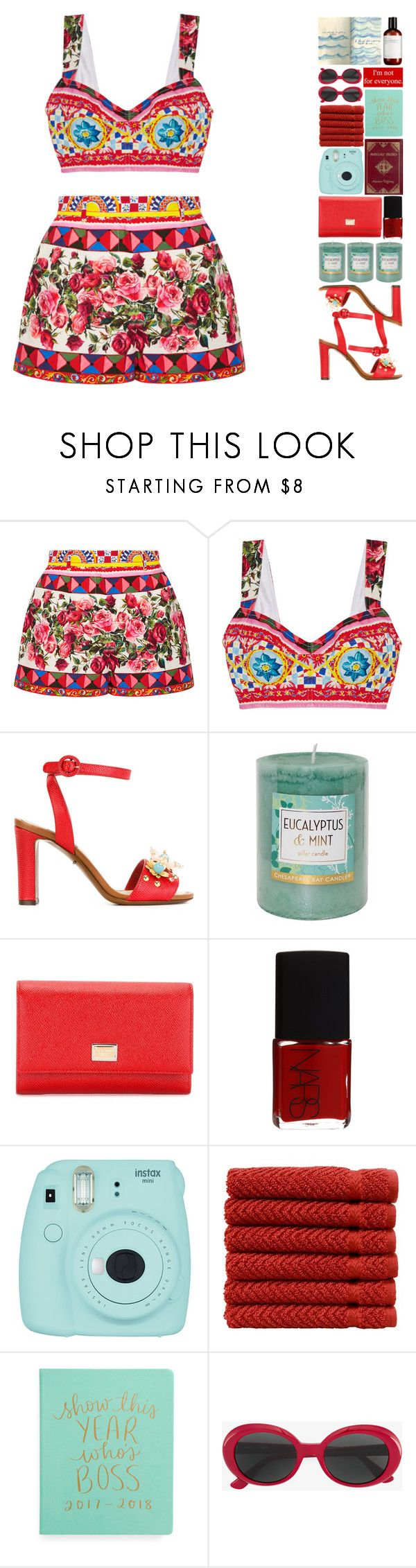 """""""6339"""" by tiffanyelinor ❤ liked on Polyvore featuring Dolce&Gabbana, Chesapeake Bay Candle, NARS Cosmetics, Fujifilm, Theory, Linum Home Textiles and Yves Saint Laurent"""