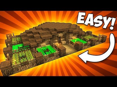 Simple & Compact FARM HOUSE! - Minecraft Tutorial - YouTube