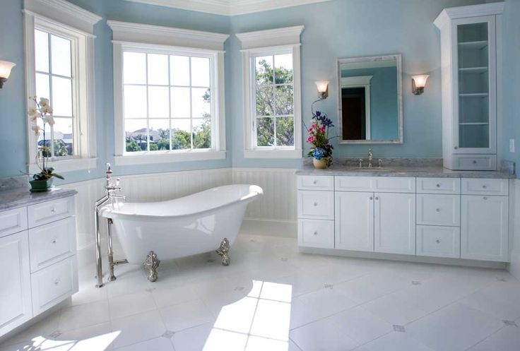 bathroom-wall-cabinet-designs-with-multiple-door-cabin-and-white-bathtub