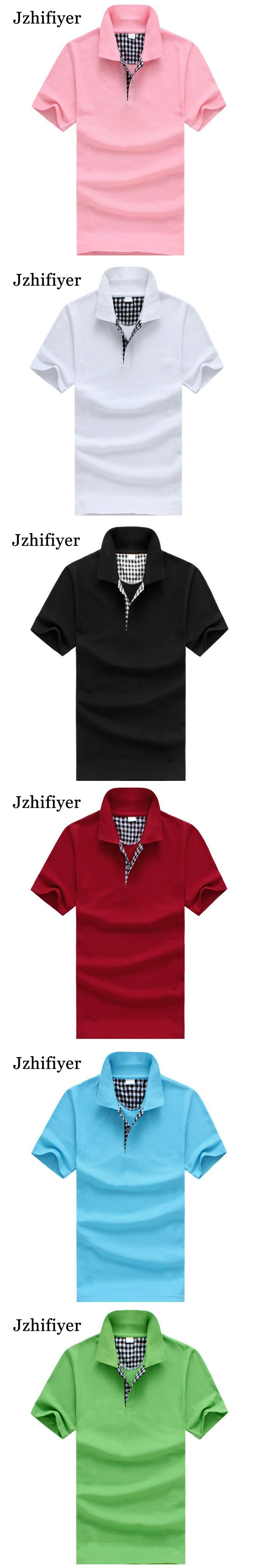 Jzhifiyer plain short-sleeve mens fashion 220g 100% cotton polo shirts camiseta masculina mens business shirt brands casual