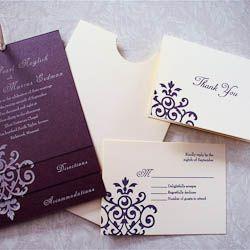 ... Weddings - Invitations on Pinterest Wedding, Silver wedding