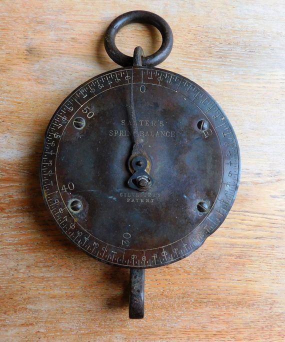 Antique Early Salter Weighing Scales Spring by MindieshackVintage