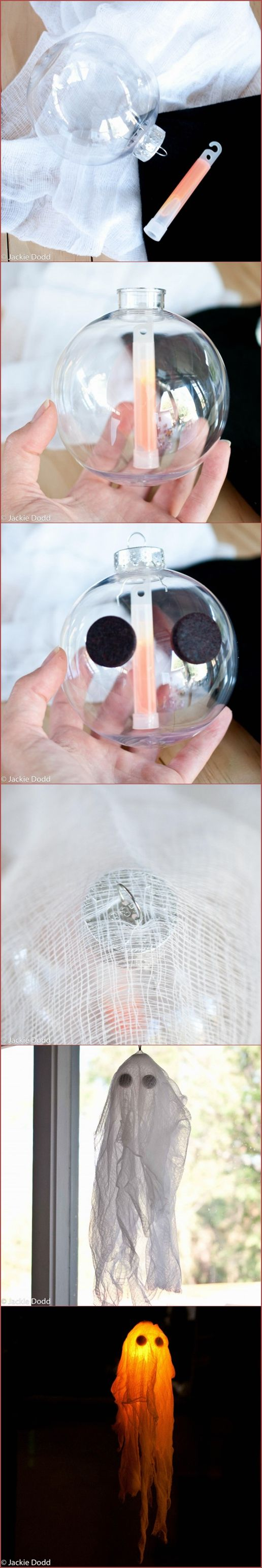 DIY Glow In The Dark Halloween Ghost Craft: So easy!