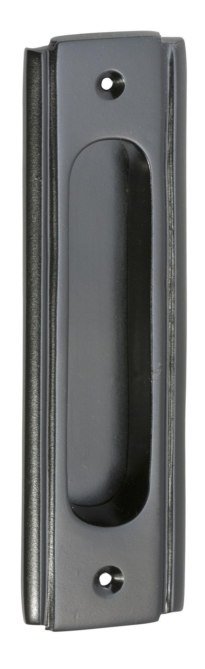 Matt Black Sliding Door Pull - Black Cavity Pull Handle - Black Flush Pull