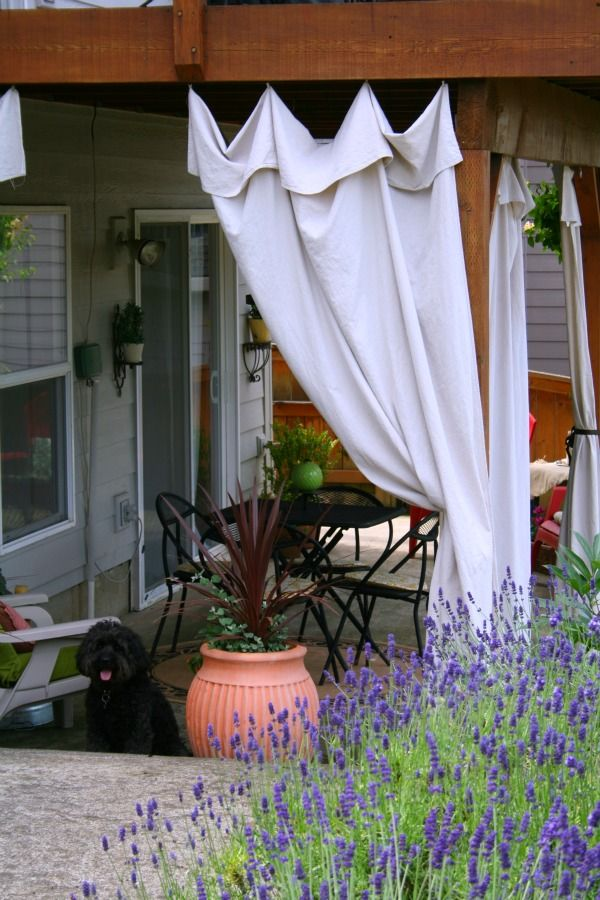 Drop Cloth Outdoor Curtains- Doing this project this week to my new screen porch
