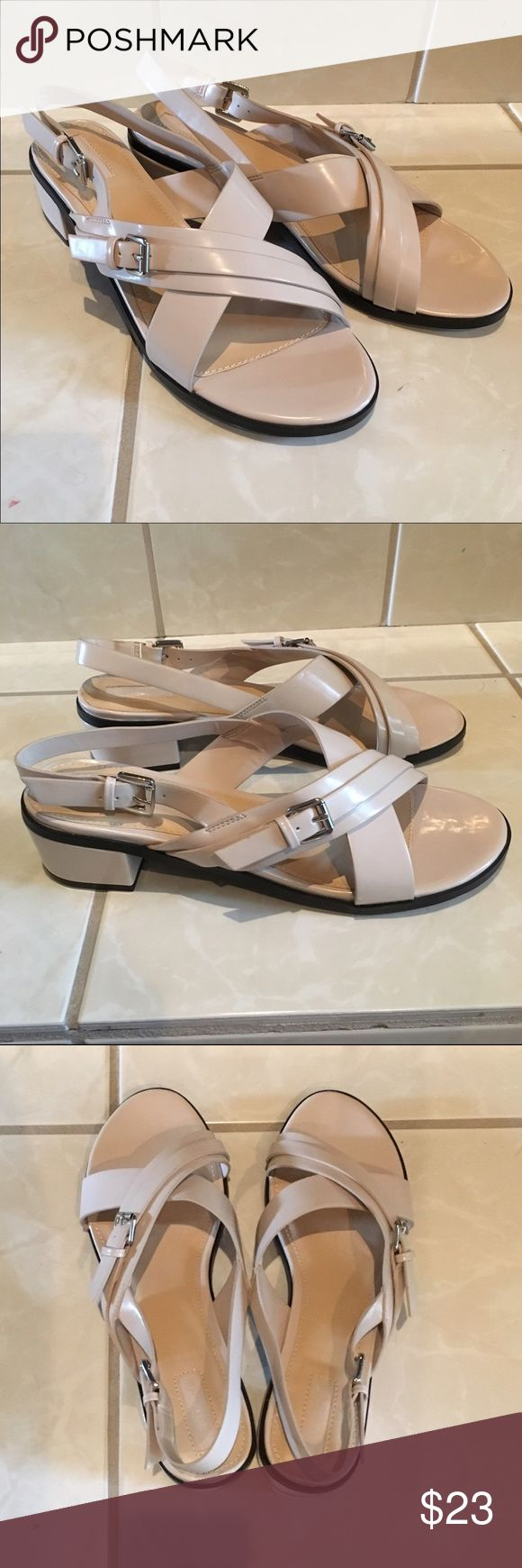 NWT F21 Nude Sandals Pretty sandals from F21! Brand new - no box, but stickers attached. Forever 21 Shoes Sandals