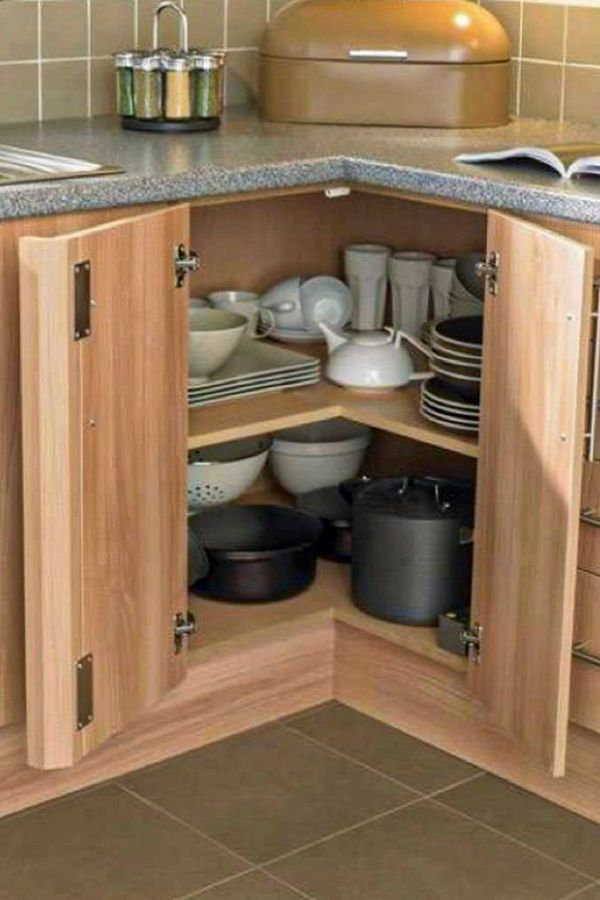 Corner Kitchen Cabinet Storage Ideas 46+ Corner Kitchen Cabinets Ideas That Optimize Your Kitchen Space