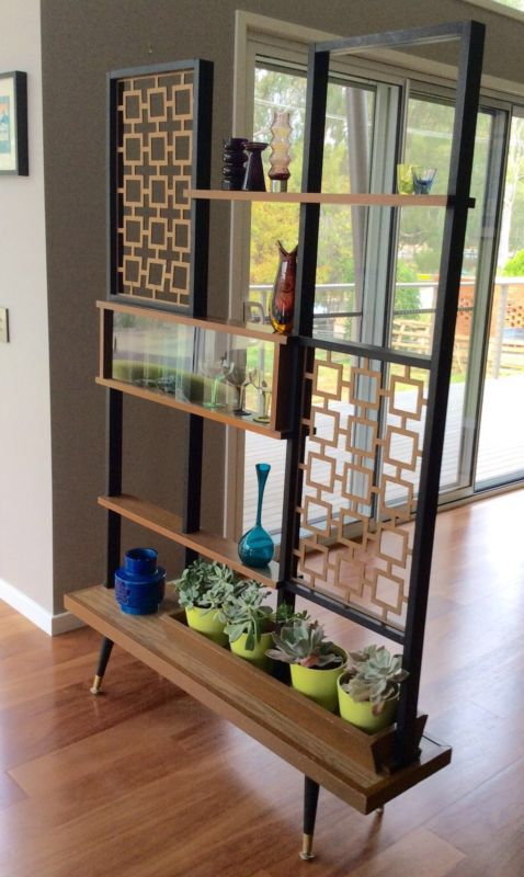 Australian vintage room divider shelf.