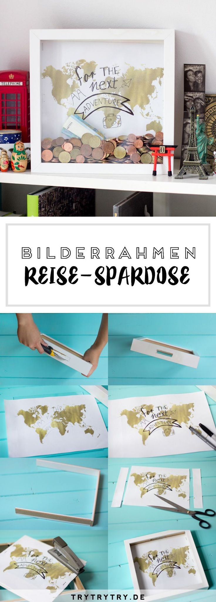 DIY Reise-Spardose & 7 Spartipps für die nächste Reise #reise #spardose