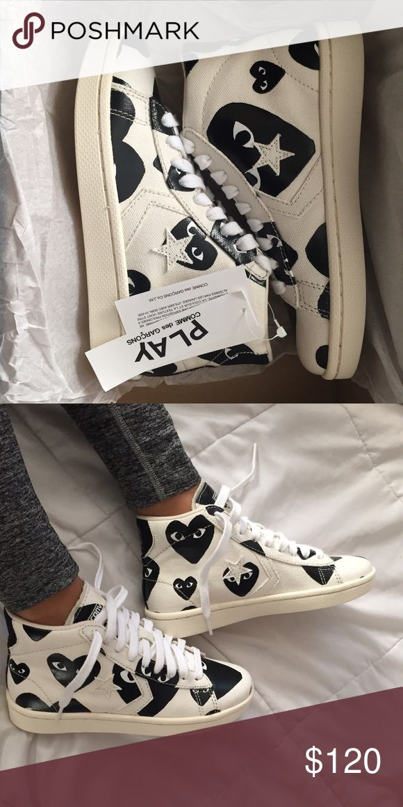 3acabf208756e7 Cdg converse Brand new with tags high top canvas converse Comme des Garcons  Shoes Sneakers