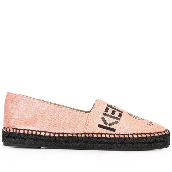 Kenzo Paris espadrilles (€160) ❤ liked on Polyvore featuring shoes, sandals, pink, pink sandals, kenzo espadrilles, leather shoes, pink espadrilles and flat espadrilles