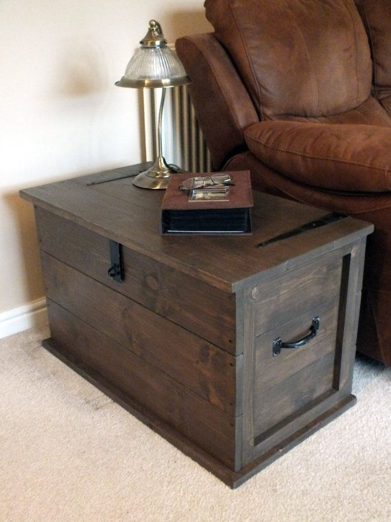 Handmade Solid Pine Storage Trunk Chest by TheHandmadeClockCo