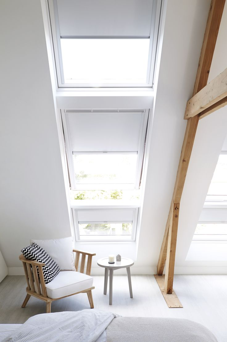 These Dutch home owners wanted to transform their loft into a modern dream bedroom. Do you think they've achieved it? Via @vtwonen Sterlingbuild #WinAVELUX