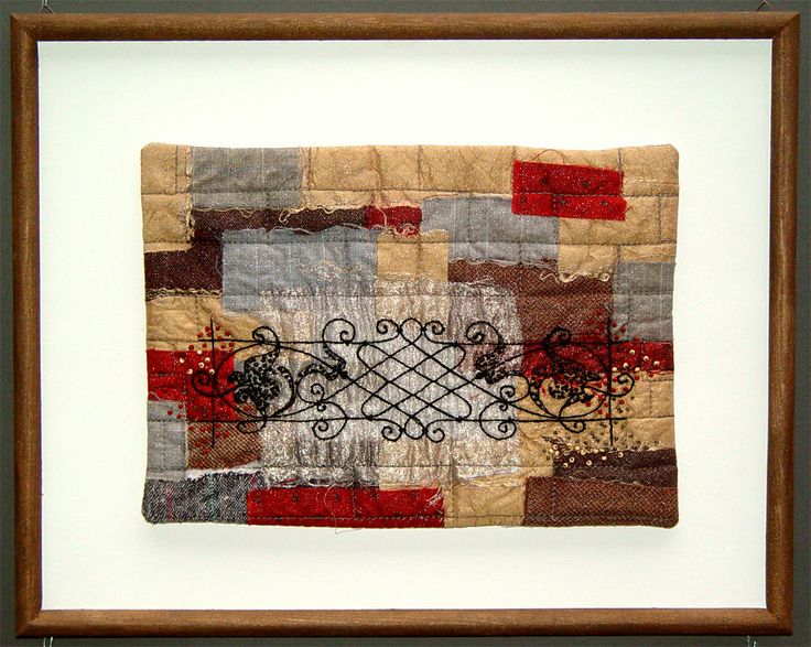 "Bozena Wojtaszek ""Iron work II"" - architectural detail, art quilt"