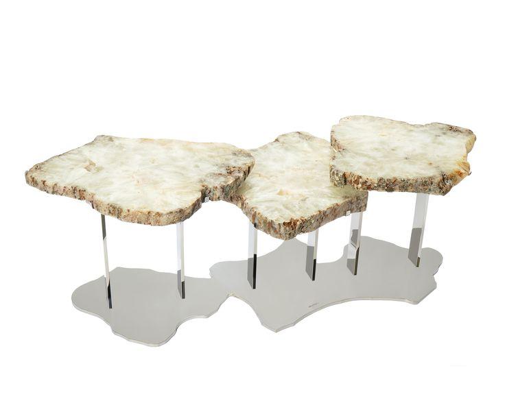 Brenda Houston Light Agate Nesting Tables