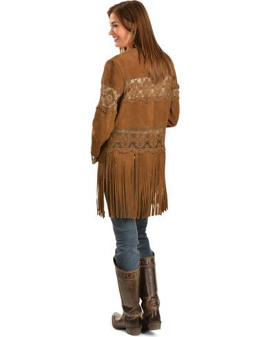 Scully Long Fringe Suede Coat - Country Outfitter