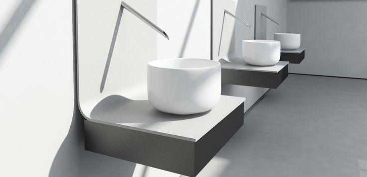 Per il 60esimo compleanno di Ceramica Flaminia, sei studenti del master in Product Design della Marangoni si sono confrontati con il tema del lavabo.