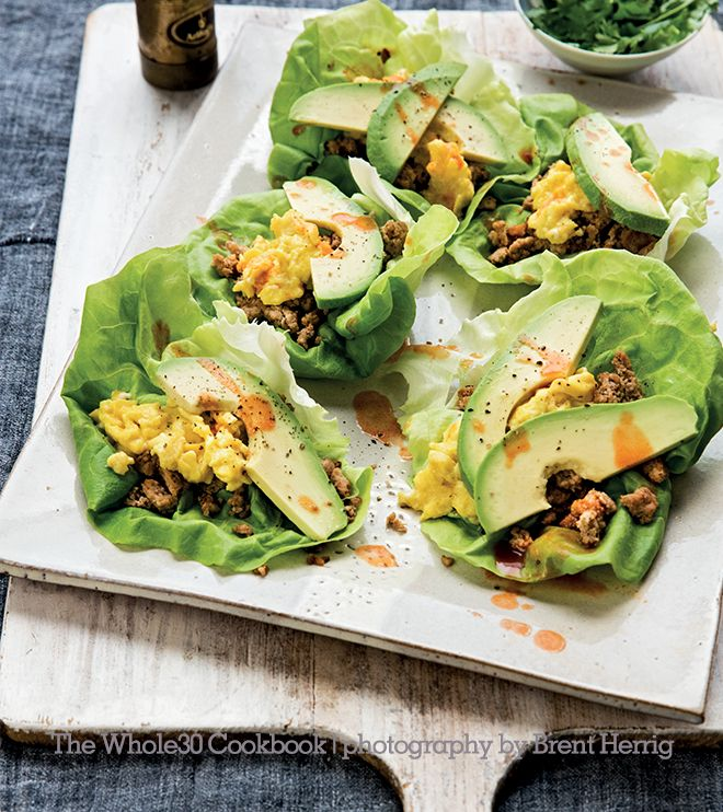 The Whole30 Cookbook Preview: Scrambled Egg Breakfast Tacos With Quick Cider-Chipotle Breakfast Sausage   The Whole30® Program