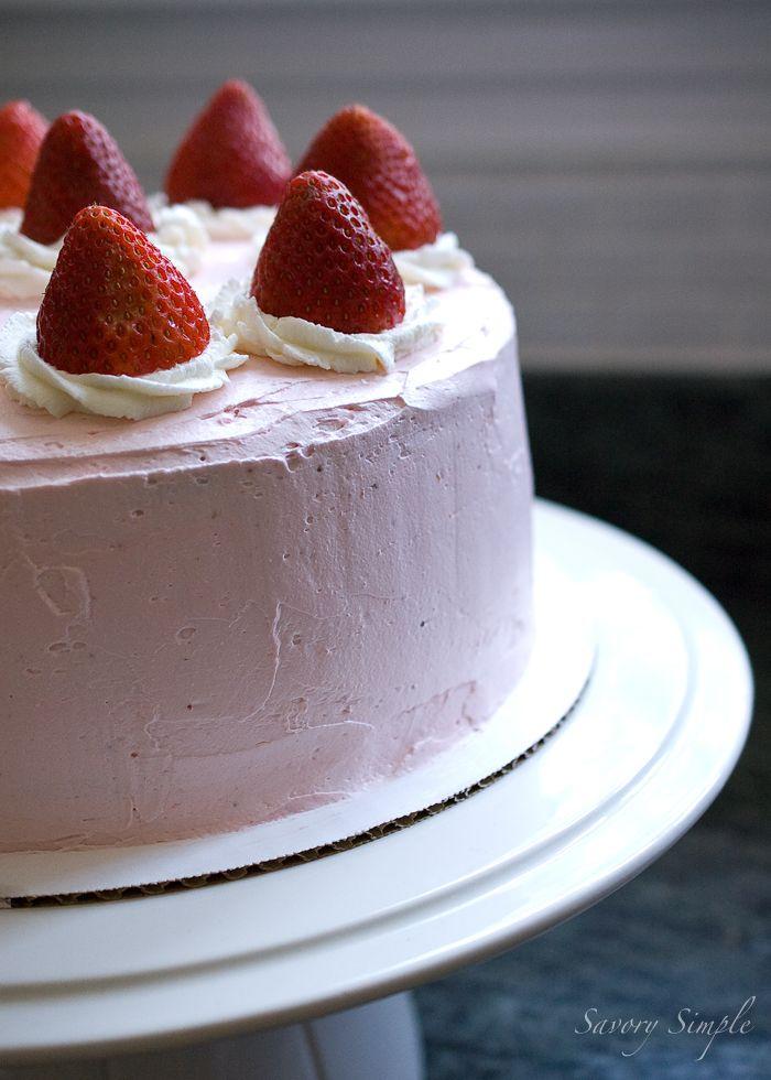 Strawberry Layer Cake - Savory Simple