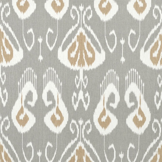 Pair of Custom Curtains, 50 x 84 inches, Portfolio Textiles BANSURI SLATE