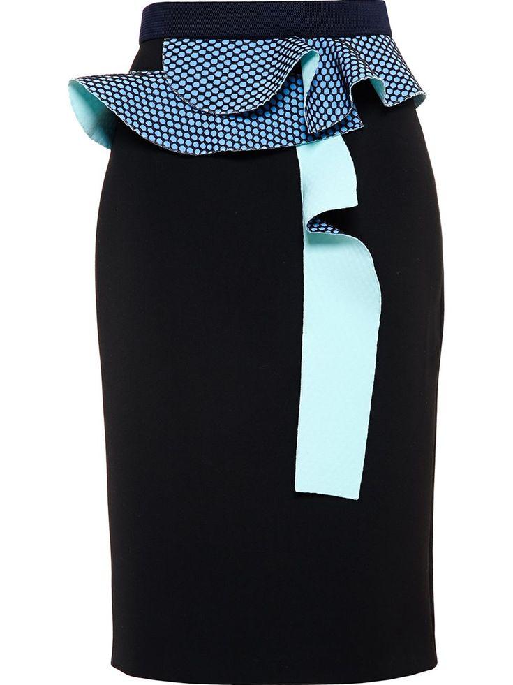 Roksanda Pencil Skirt With Ruffle Detail - Browns - Farfetch.com