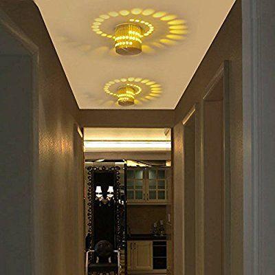 BAYTTER® 3W LED Wandleuchte Wandlampe Badlampe Wandstahler Effektlampe Badleuchte Flurlampe (warmweiß)