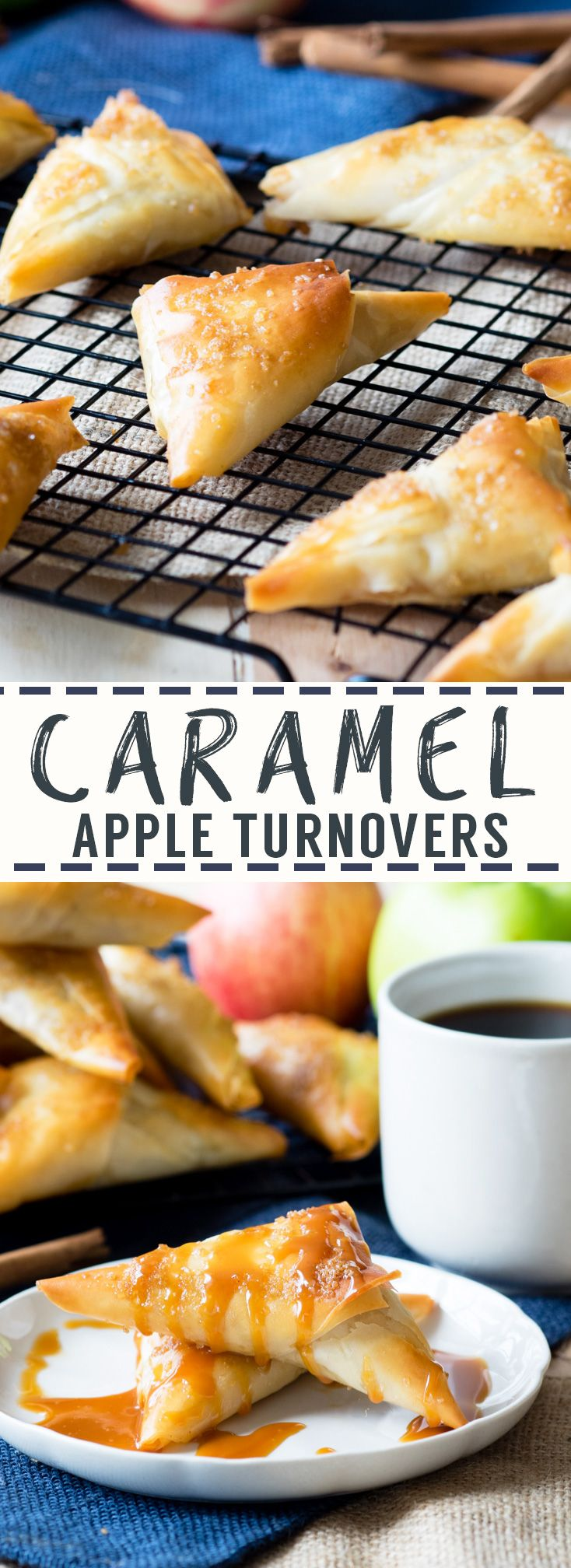 Caramel Apple Turnovers with Filo Pastry | The Worktop (Apple Recipes Muffins)