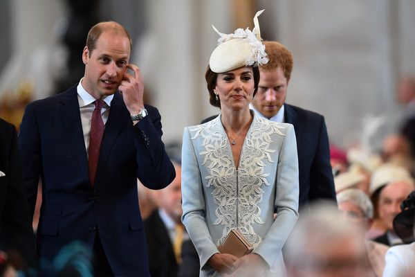 Prince William Photos - Prince William, Duke of Cambridge, Catherine, Duchess of Cambridge and Prince Harry arrive for a service of thanksgiving for Queen Elizabeth II's 90th birthday at St Paul's cathedral on June 10, 2016 in London, United Kingdom. - National Service Of Thanksgiving To Celebrate The Queen's 90th Birthday