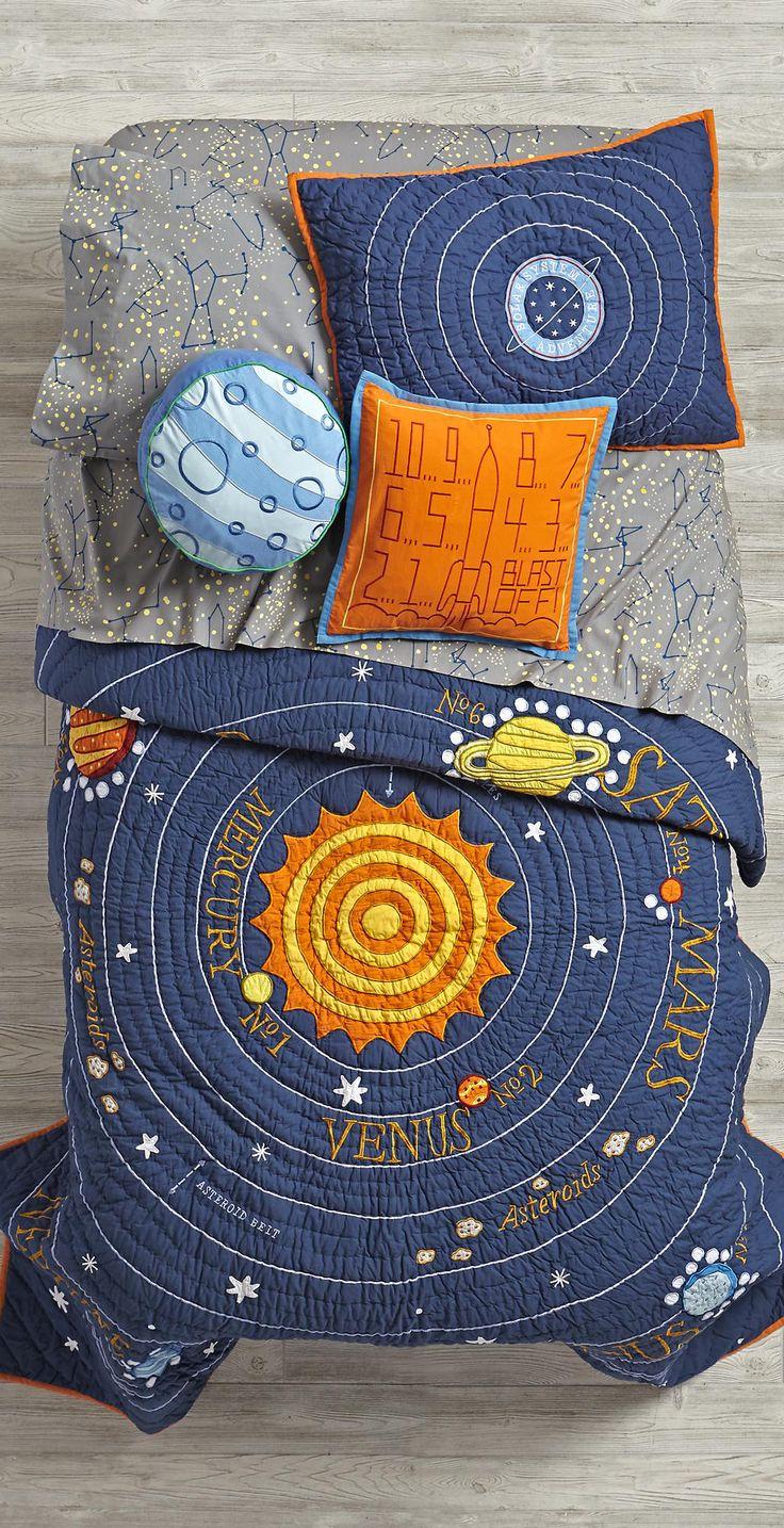 17 best images about boys bedding on pinterest woodland bedroom kid and comforter - Solar system comforter set ...