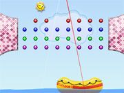 Free Online Puzzle Games, Enjoy a relaxing day at the beach as you try to pop all the bubbles in Sundrop!  Launch the sun towards each bubble and try to pop each one before you run out of shots!  Try to land in the lifeboat to conserve your shots!, #bubble #ball #shooter #puzzle