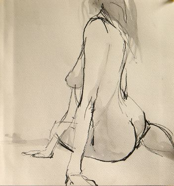 """Saatchi Online Artist Robert Bubel; Drawing, """"'Nude IX.' / SOLD"""" #art"""