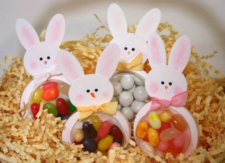 Easter bunny jelly belly favors or cards