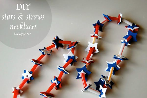 Easy kid craft! Stars and stripes necklaces #BabyCenterBlog