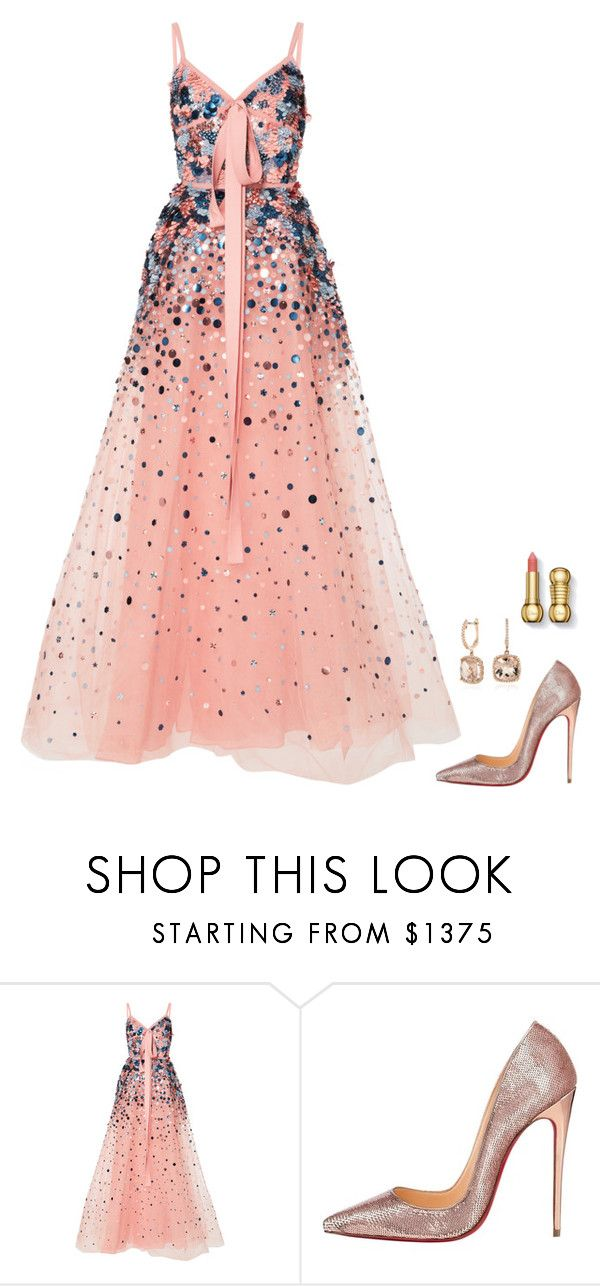 """Untitled #1261"" by h1234l on Polyvore featuring Elie Saab, Christian Louboutin and Blue Nile"