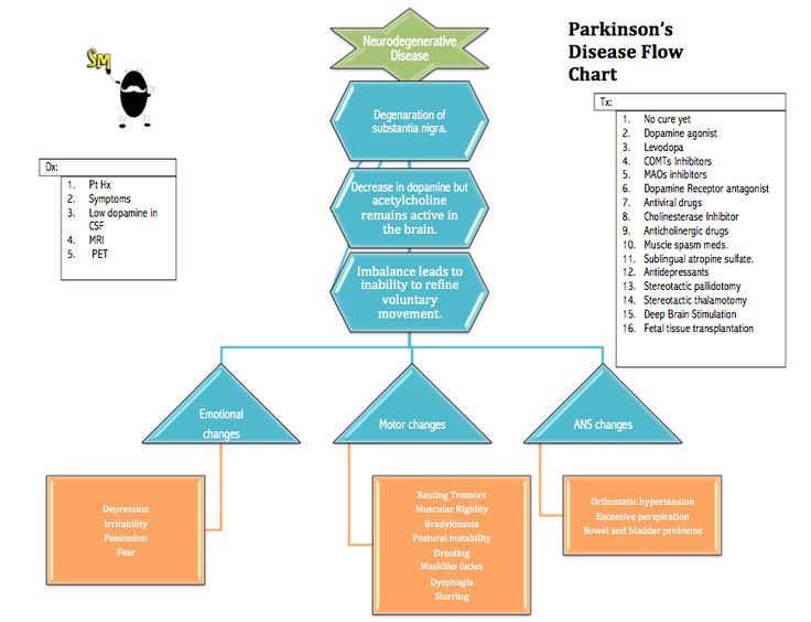 Parkinson U2019s Disease Flow Chart